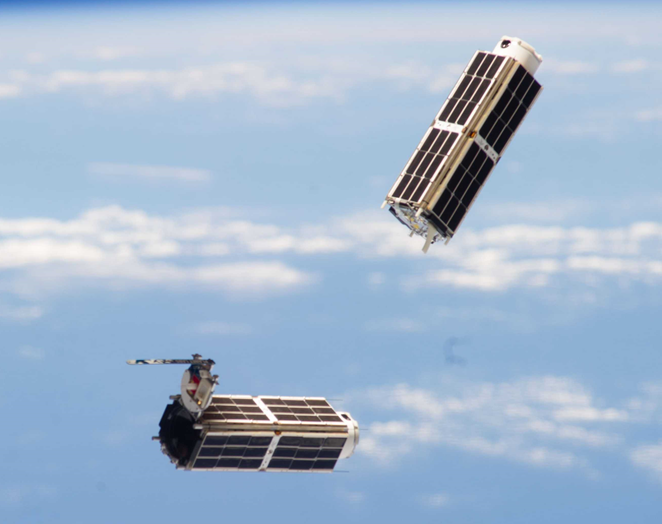 Two nanosatellites in orbit - Orbital Transports
