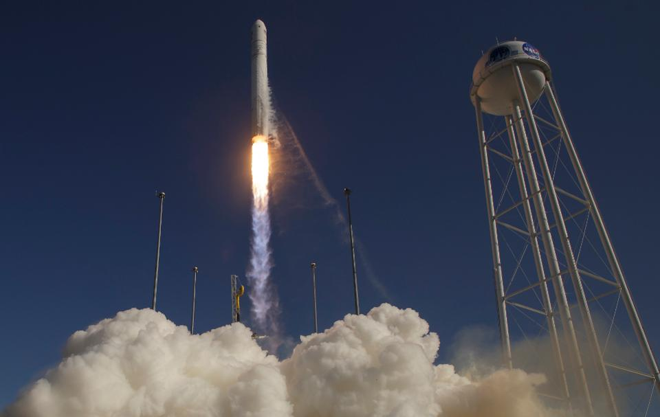 Launch of Antares rocket - Orbital Transports