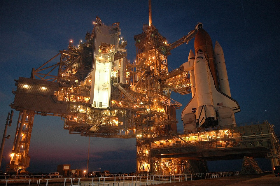 Discovery Space Shuttle Docked At Kennedy Space Center in Cape Canaveral, Florida - Orbital Transports